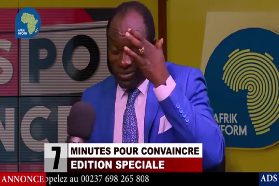 Maltraité par un journaliste, le Biyaïste Atangana Manda transpire dans un studio climatisé (vidéo)