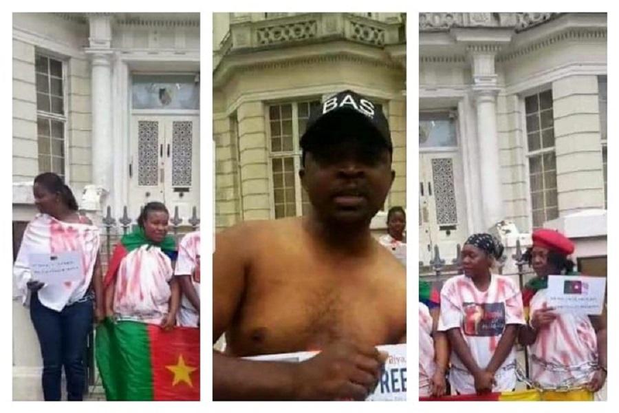 Urgent ! La Brigade Anti-Sardinards bloque l'entrée de l'Ambassade du Cameroun à Londres